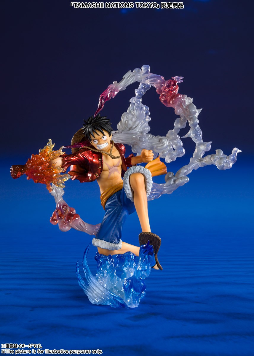 One Piece Figuarts Zero Monkey D Luffy Battle Ver Gum Gum No Red Hawk Special Color Edition